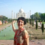 Marsha at the Taj Mahal